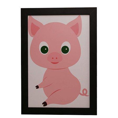 Quadro Decorativo Infantil Porquinho