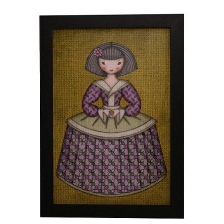 Quadro Decorativo Boneca de Vestido #1