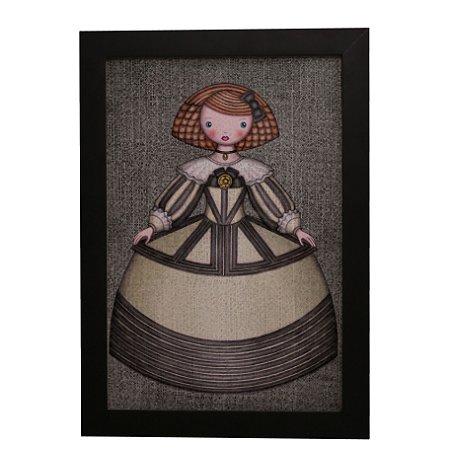 Quadro Decorativo Boneca de Vestido #3