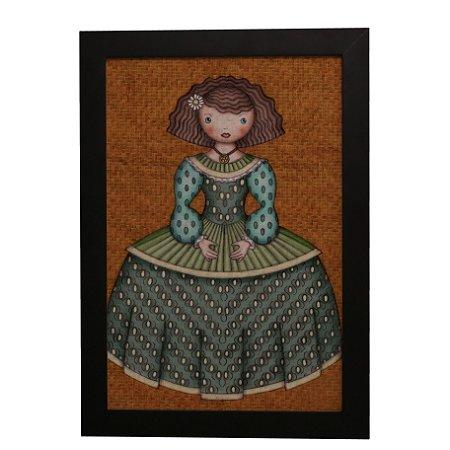 Quadro Decorativo Boneca de Vestido #4