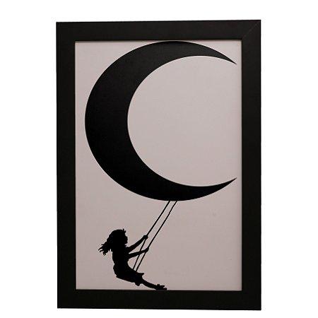 Quadro Decorativo Balanço na Lua