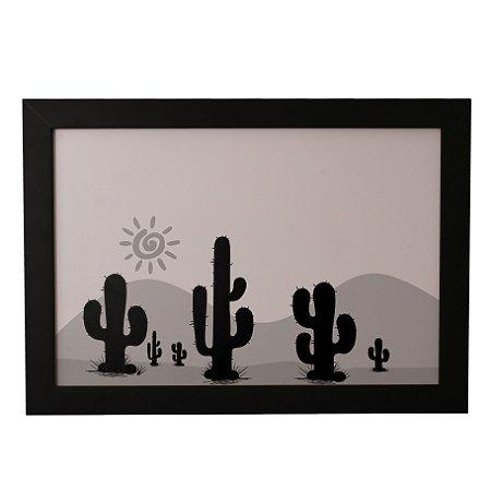 Quadro Decorativo Cactos no Deserto