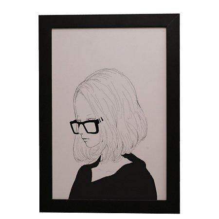 Quadro Decorativo Garota de Óculos