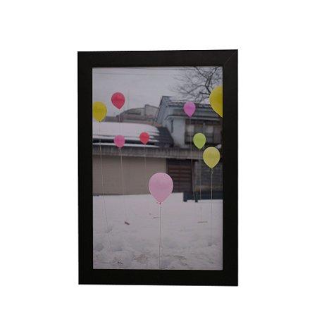 Quadro Decorativo Balões na Neve