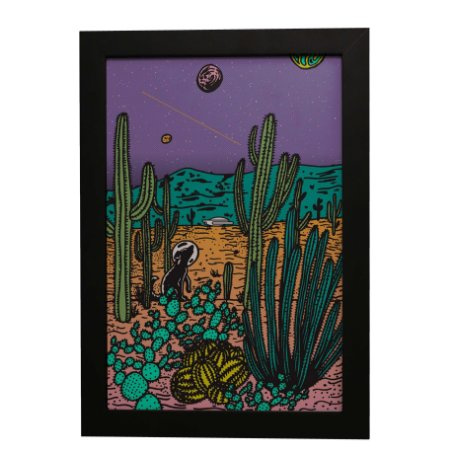 Quadro Decorativo Deserto Espacial