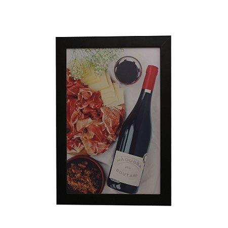 Quadro Decorativo Vinho e Acepipes