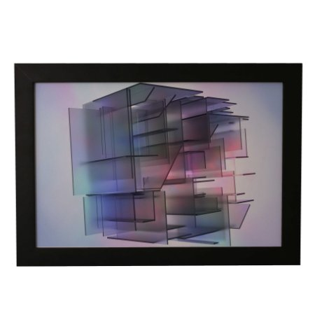 Quadro Decorativo Cubo Abstrato
