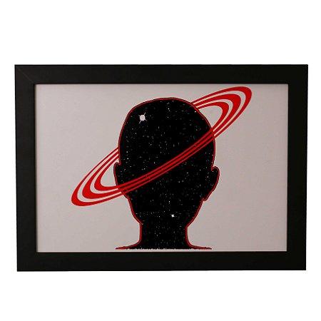 Quadro Decorativo Cabeça em Saturno