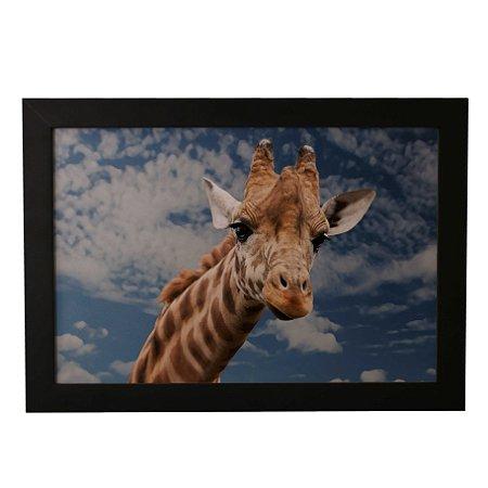 Quadro Decorativo Girafa e Céu Azul