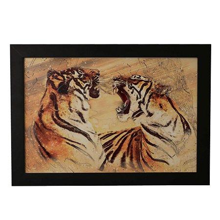 Quadro Decorativo Dois Tigres
