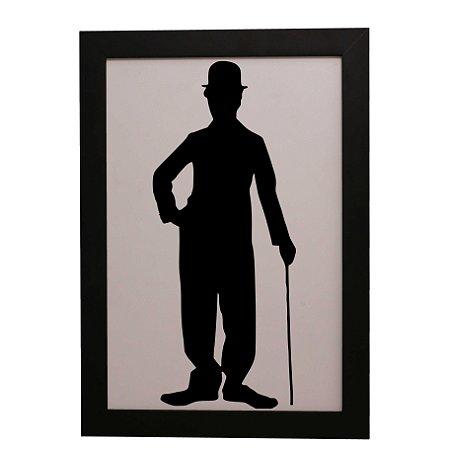 Quadro Decorativo Charlie Chaplin Sombra