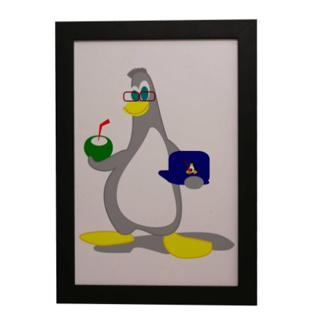 Quadro Decorativo Club Penguin