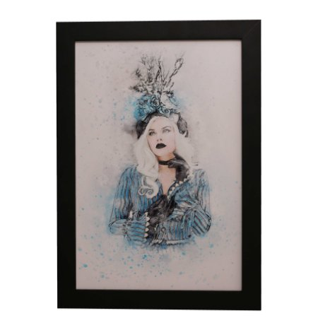 Quadro Decorativo Pin-up Aquarela
