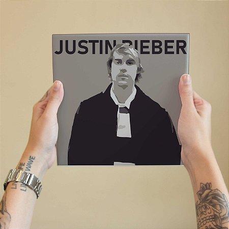 Quadro Decorativo Justin Bieber - Coleção Revista Rap