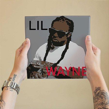 Quadro Decorativo Lil Wayne - Coleção Revista Rap