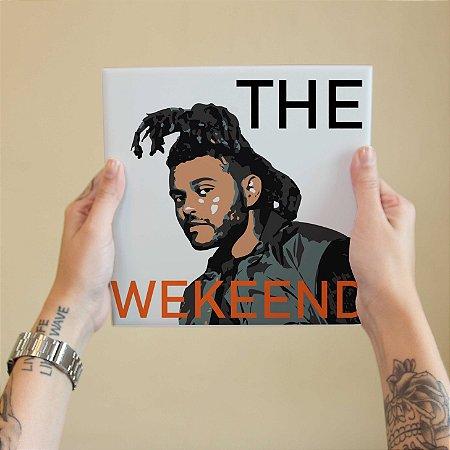 Quadro Decorativo The Weeknd - Coleção Revista Rap
