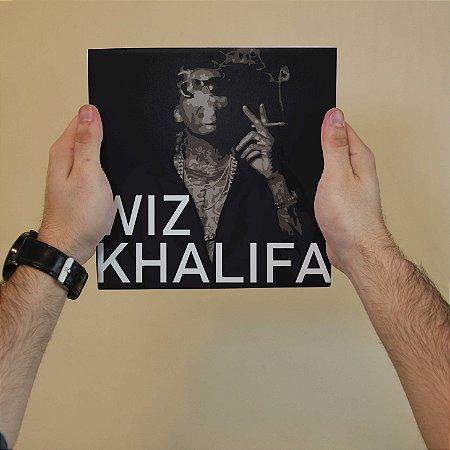 Quadro Decorativo Wiz Khalifa - Coleção Revista Rap