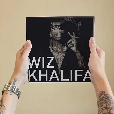 Quadro Decorativo Wiz Khalifa #2 - Coleção Revista Rap