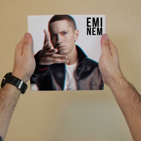 Quadro Decorativo Eminem #2 - Coleção Revista Rap