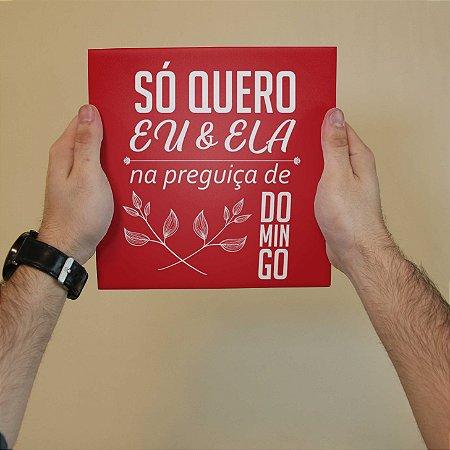 Quadro Decorativo Letra Vulgo FK - Coleção Revista Rap