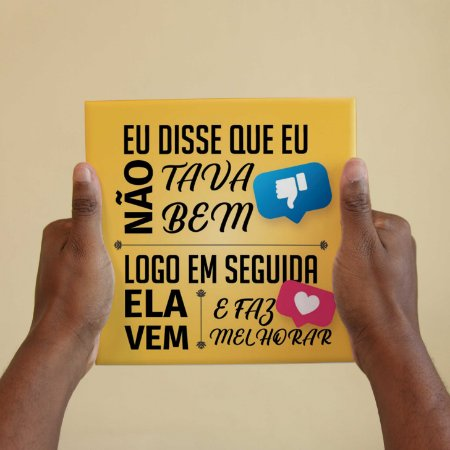 Quadro Decorativo Letra Projota - Coleção Revista Rap