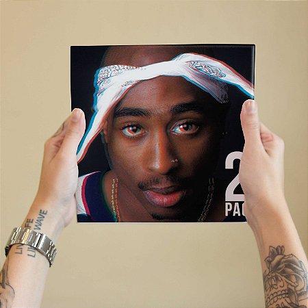 Quadro Decorativo 2 Pac #2 - Coleção Revista Rap