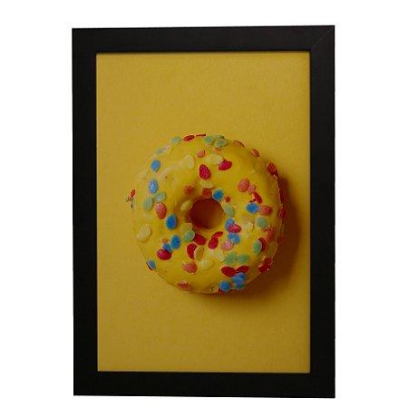 Quadro Decorativo Donut Amarelo