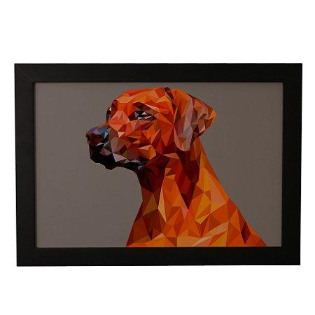 Quadro Decorativo Cão Geométrico