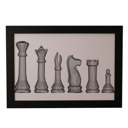 Quadro Decorativo Geométrico Xadrez