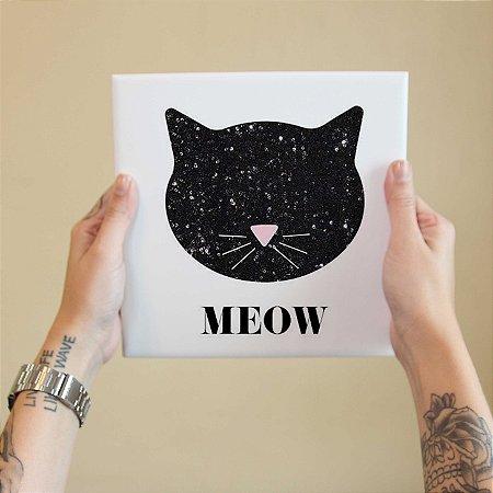 """Azulejo Decorativo """"Meow"""""""