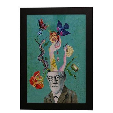 Quadro Decorativo Freud Desenho