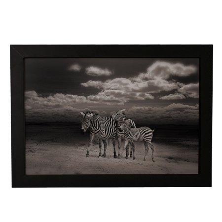 Quadro Decorativo Zebras P&B