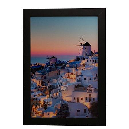 Quadro Decorativo Vilarejo Grécia