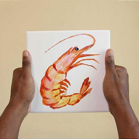 Azulejo Decorativo Camarão Desenhado