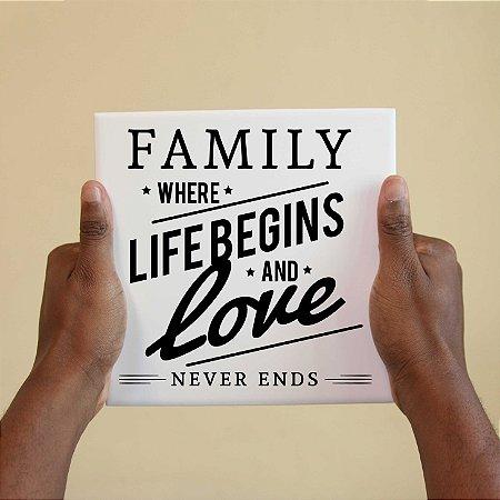 Azulejo Decorativo Família