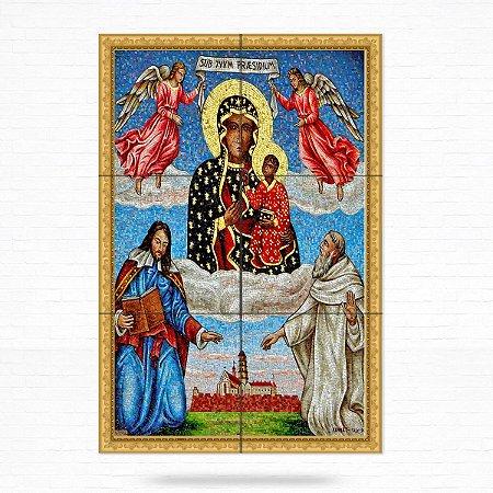 Painel Decorativo de Azulejo Nossa Senhora do Monte Claro de Częstochowa