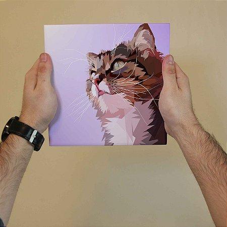 Azulejo Decorativo Gato aquarela #1