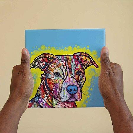 Azulejo Decorativo Cão Colorido