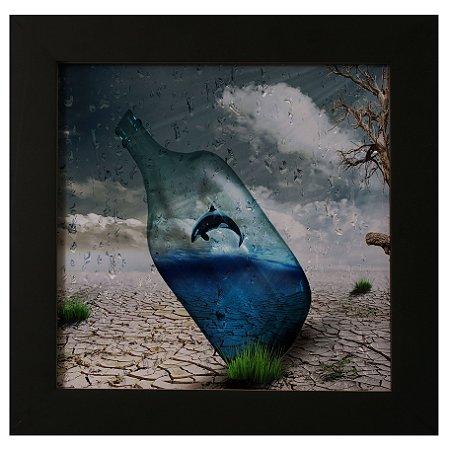Quadro Decorativo Mar na Garrafa