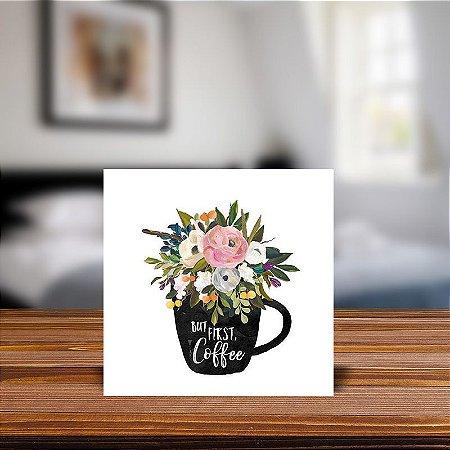 Azulejo Decorativo But first coffee