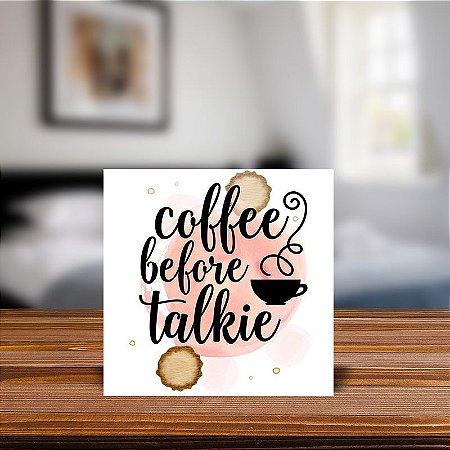 Azulejo Decorativo Coffee Before Talkie