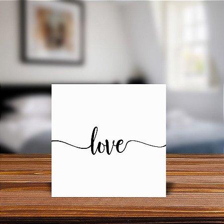 Azulejo Decorativo Love Frase