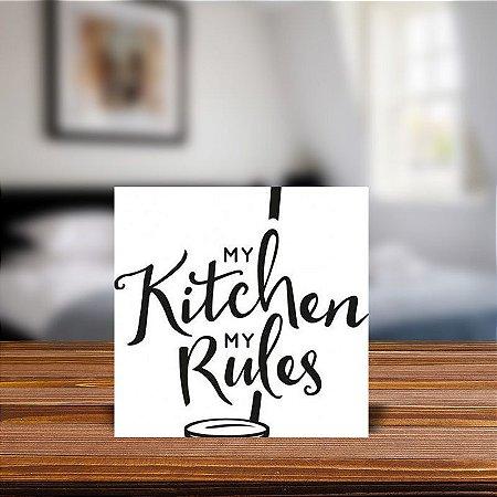 Azulejo Decorativo My Kitchen My Rules