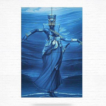 Painel Decorativo de Azulejo Iemanjá #2