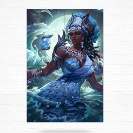 Painel Decorativo de Azulejo Iemanjá #3