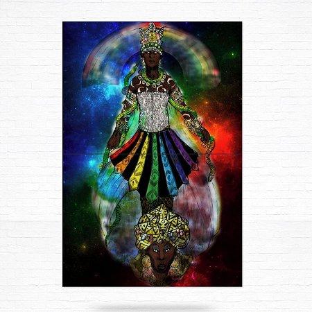 Painel Decorativo de Azulejo Oxumare #2