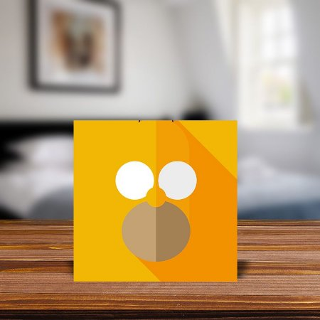 Azulejo Decorativo Minimalista Homer