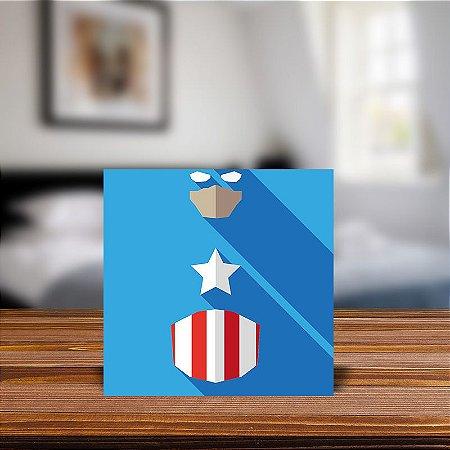 Azulejo Decorativo Minimalista Capitao America