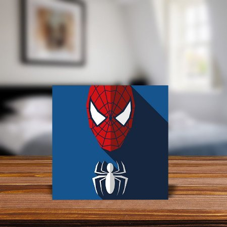 Azulejo Decorativo Minimalista Homem-Aranha