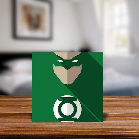 Azulejo Decorativo Minimalista Lanterna Verde